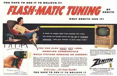 Самый первый пульт дистанционного управления Flash-Matic