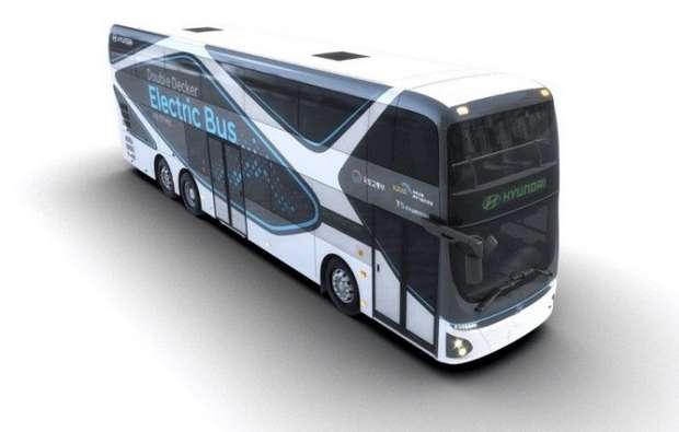 Автобус на электрической тяге от компании Hyundai способен проезжать до 300 км без подзарядки