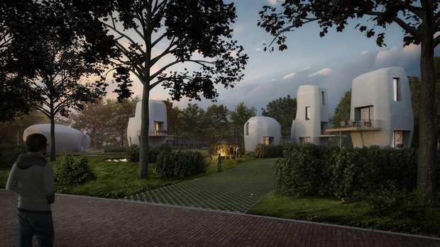 3D-печатные дома, разработанные Эйндховенским (Eindhoven) технологическим университетом