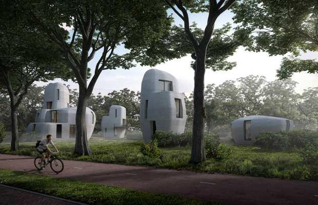 3D-печатные дома Endhoven технологического университета (Нидерланды)