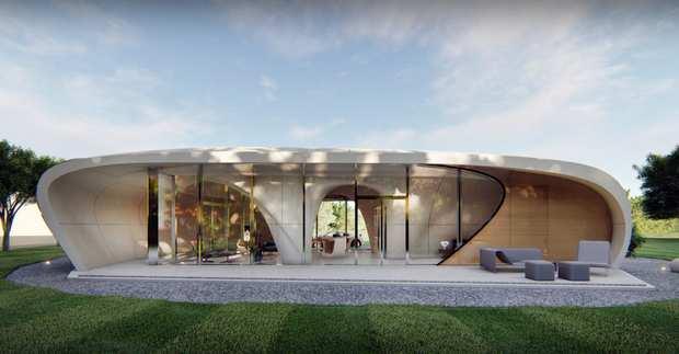 3D здание Curve Appeal (привлекательность кривой)