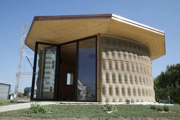 Итальянский биоразлагаемый 3D печатный дом Gaia WASP