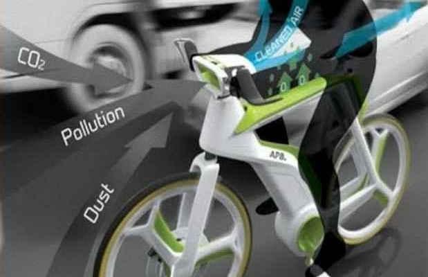 Велосипед очищающий воздух