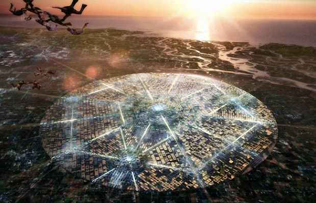 Гексагонально круговая структура FREE City