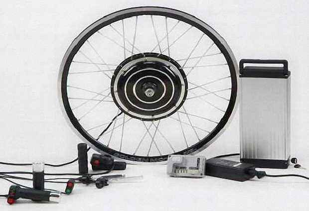 Комплектующие из набора мотор-колесо для электровелосипеда