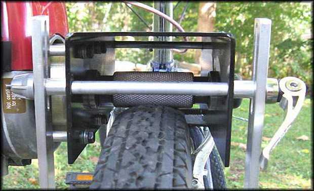 Электровелосипед с фрикционным приводом