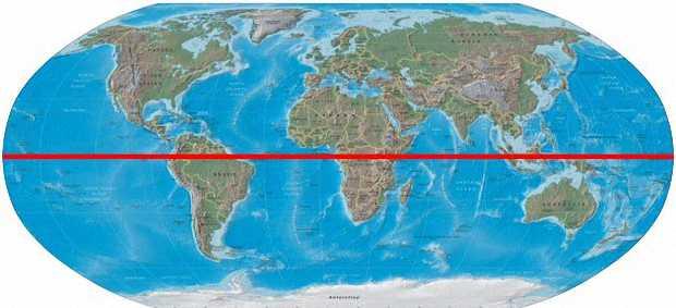 Ветер формируется вокруг экватора