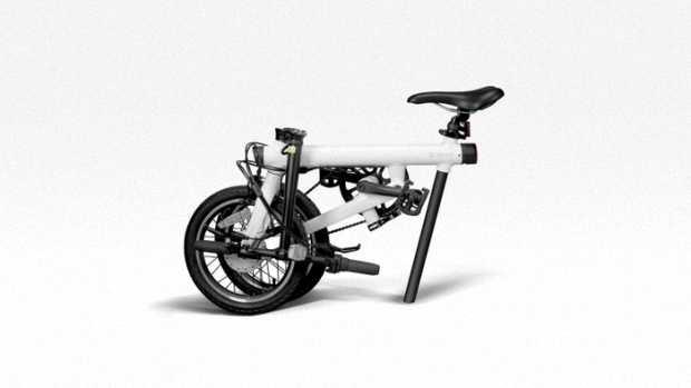 Электровелосипед QiCycle в сложенном виде
