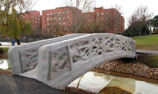 Мост имеет 12 метров в длину и 1,75 метра в ширину и находится в городском парке Кастилия-Ла-Манча