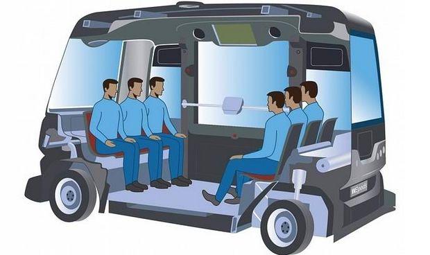 Беспилотный автобус WePod способен перевозить 6 пассажиров