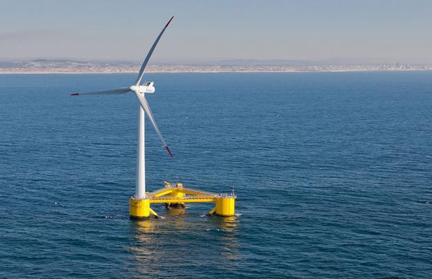 Плавающая турбина WindFloat Agucadoura