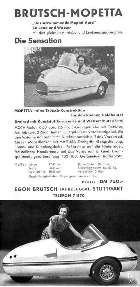 Рекламная листовка Brütsch Mopetta