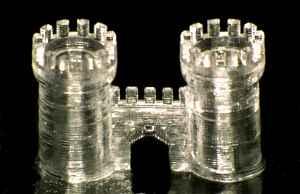 Средневековый замок напечатанный на  3D-принтере