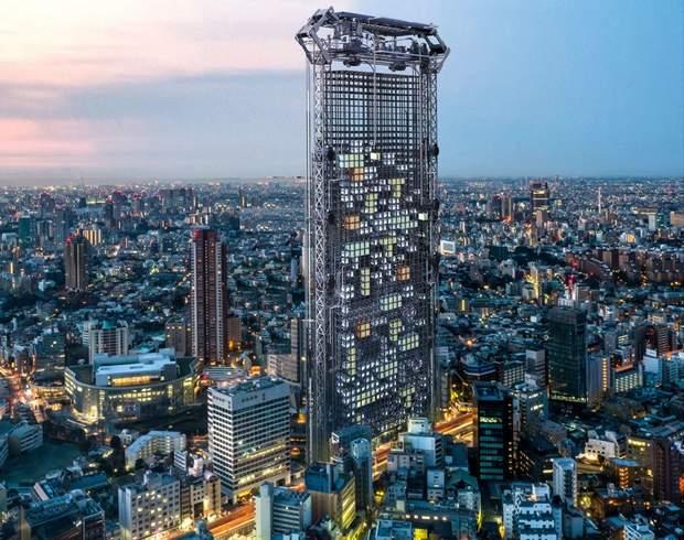 Каркас небоскреба для будущих модулей-квартир