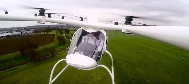 Испытательный полет Volocopter VC200