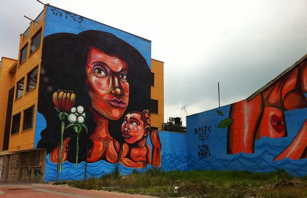 Граффити в Колумбии