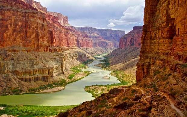 Узкое место в каньоне менее километра