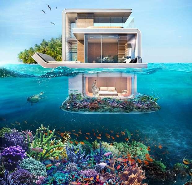 Часть дома находится под водой