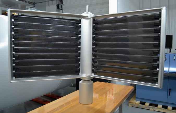 Лопасти подводной турбины в форме жалюзей
