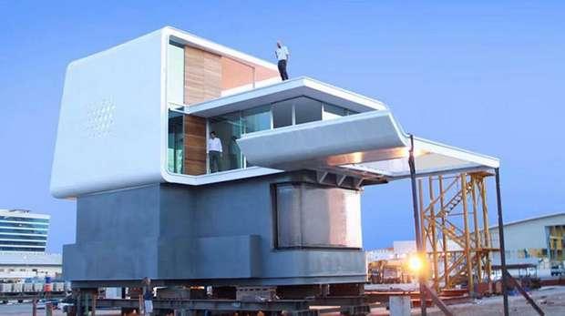 Так строится плавающий дом