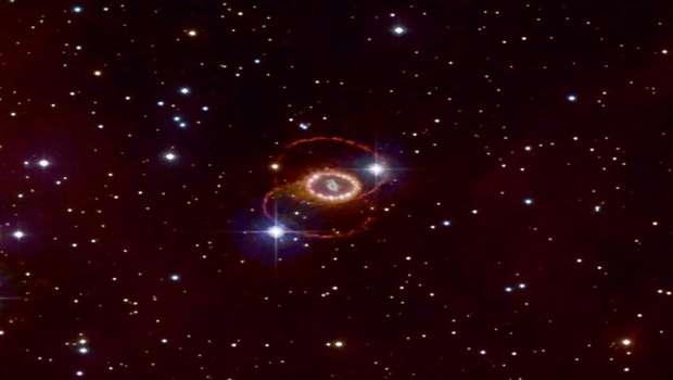 Остатки сверхновой 1987a в Большом Магеллановом облаке