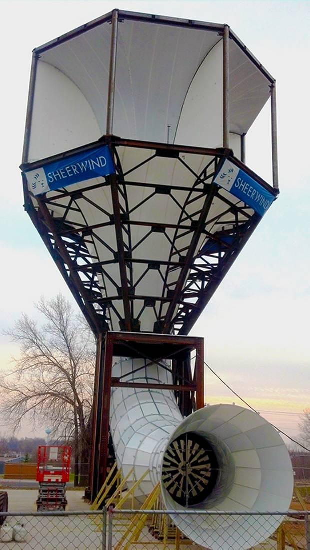 Действующий прототип ветровой турбины INVELOX