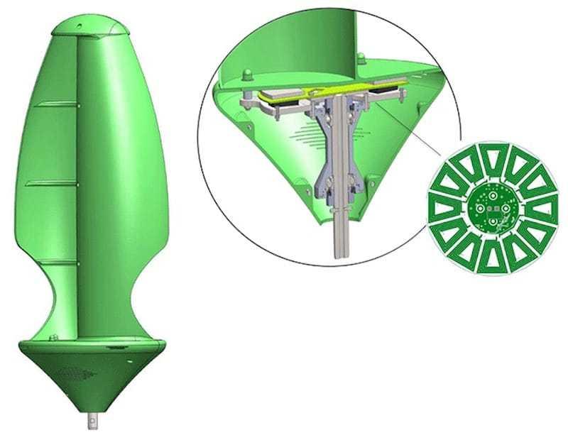 Крепление листьев к турбине