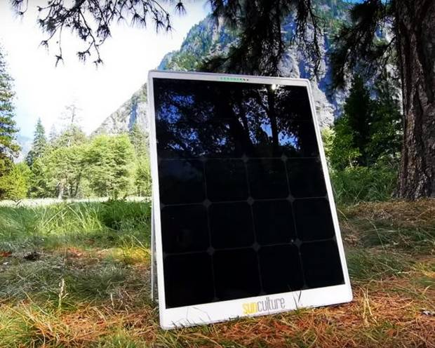 Устройство SolPad на природе