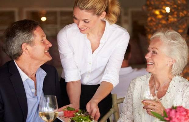 Общение с официантом