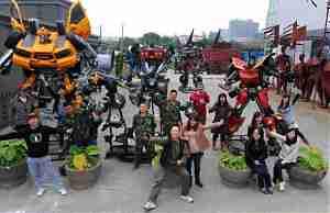 Арт-объекты на городской свалке в Китае
