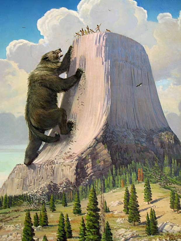 Согласно мифам медведь оставил следы на скале