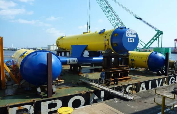 Установка Кайрю компания IHI Corporation для получения энергии из океанических течений