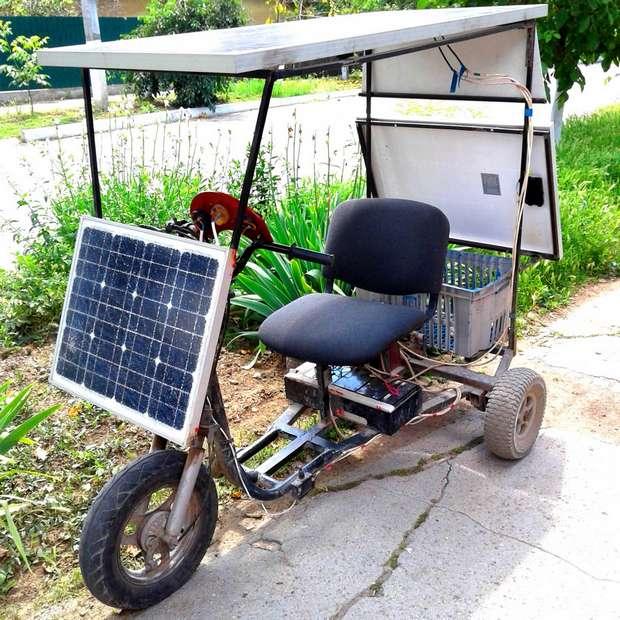 Солнцемобиль трицикл Budjactan seslar