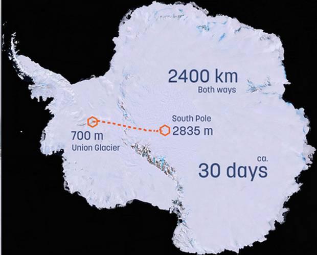 Старт экспедиции из антарктической станции Union Glacier