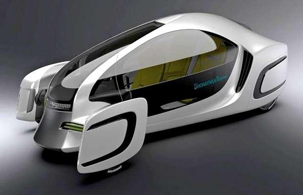 Японский электромобиль из комбинированного пластика