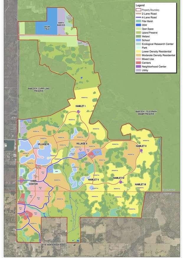 Около 17608 акров города будут занимать парки и озера